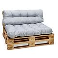 Palletkussen Basic comfort zitgedeelte licht grijs 120x80x15cm