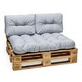 Palletkussen Basic comfort rugdeel halve pallet lengte licht grijs