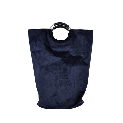 Wicotex Laundry basket pocket model dark blue 36x61cm