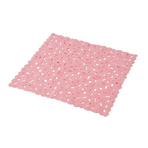Non-slip shower mat pink