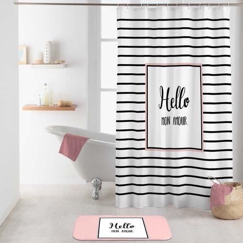Shower curtain textile Amour 180x200 cm