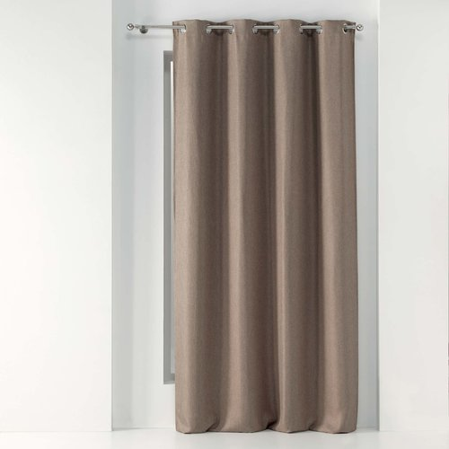 Wicotex Ready made curtain Tramina with rings woven hazelnut obscuring 135x240cm