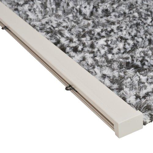 Flauschvorhang 90x220 cm grau / schwarz / weiß Mischung in doos