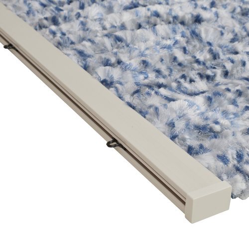 Wicotex Flauschvorhang 90x220 cm blau mix in box