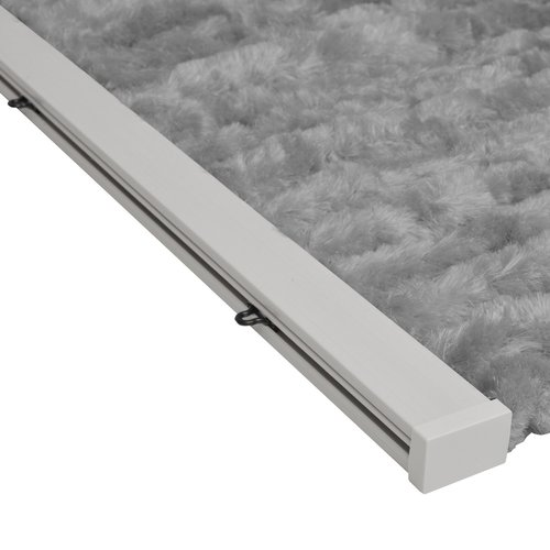 Flauschvorhang 100x240 cm grau uni in doos
