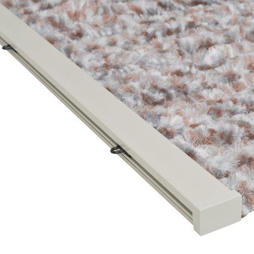 Wicotex Flauschvorhang 100x240 cm grau / braun / weiß Mischung in box