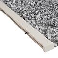 Flauschvorhang 100x240 cm grau / schwarz / weiß Mischung in doos