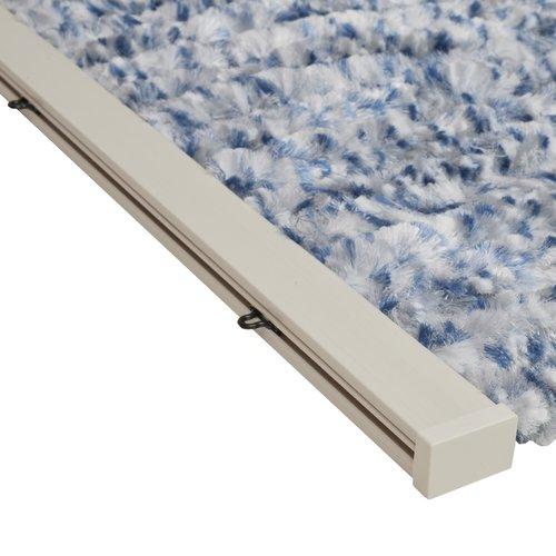 Wicotex Flauschvorhang 100x240 cm blau / grau / weiß Mischung in box