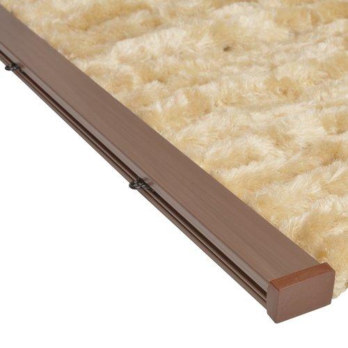 Wicotex Flauschvorhang 90x220 cm beige uni in box