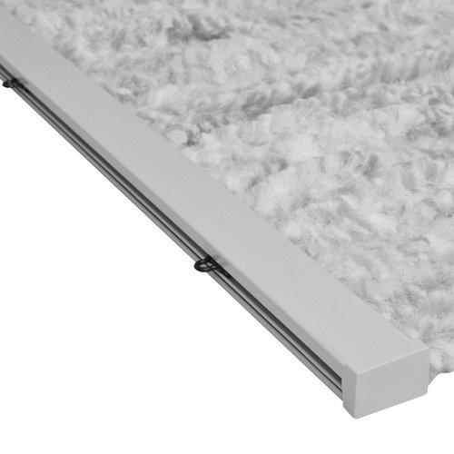 Flauschvorhang 90x220 cm grau wit mix in doos