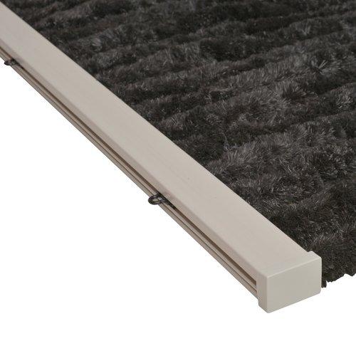 Flauschvorhang 90x220 cm schwarz uni