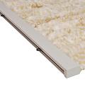 Fliegenvorhang-Katzenschwanz-Caravan - 56x180 cm beige weiße Mischung