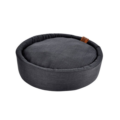 Dog Cushion-Dog Bed-Cozy around 60cm dark gray
