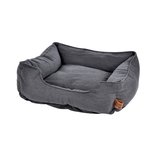 Hundekissen-Hundebett-Gemütlich 65x60cm dunkelgrau
