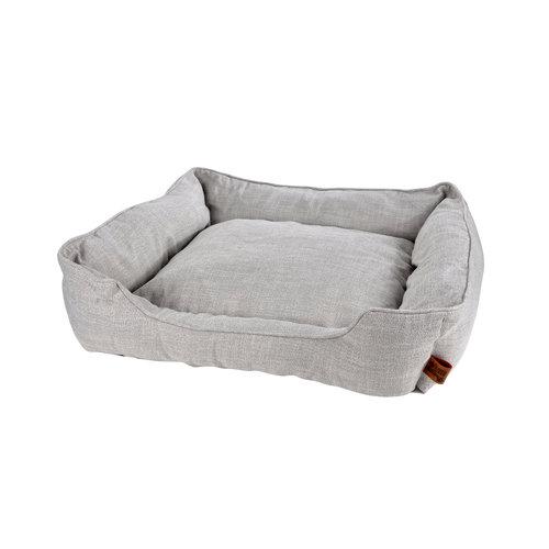 Hundekissen-Hundebett-Gemütlich 65x60cm hellgrau