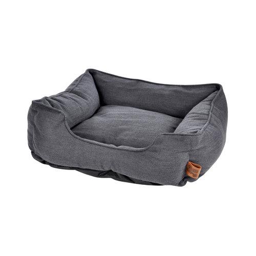 Hundekissen-Hundebett-Gemütlich 75x70cm dunkelgrau