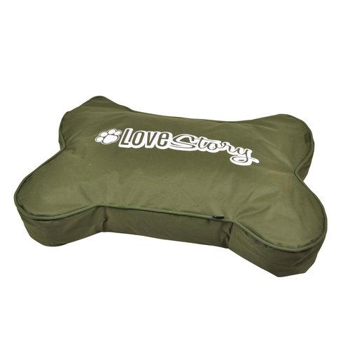 Hundekissen-Hundebett-Knochenform 100x70cm grün