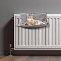 Cat basket-Radiator-45x30cm light gray
