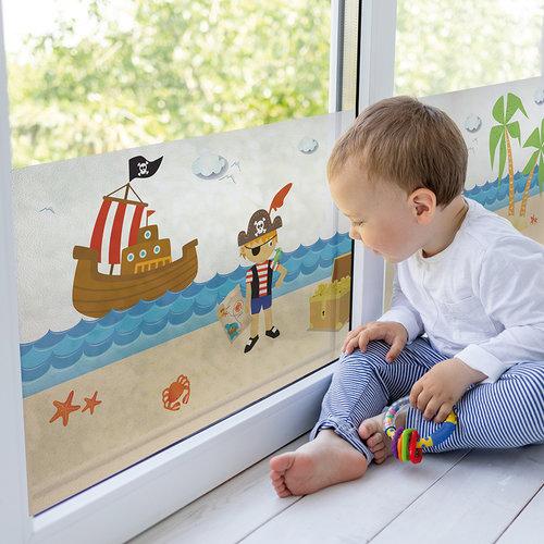 Fensterfolie statisch Pirates 46cm