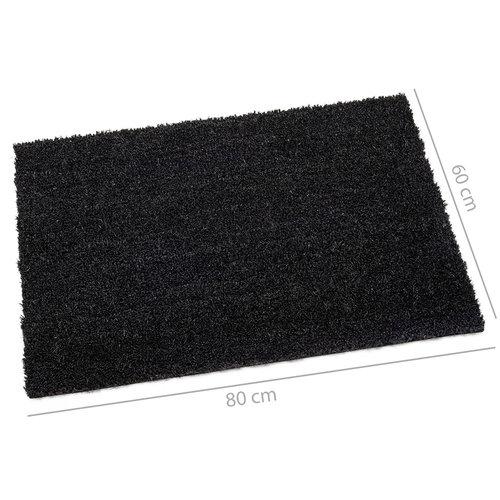 Reinigungsmatte Kokos schwarz 60x80cm