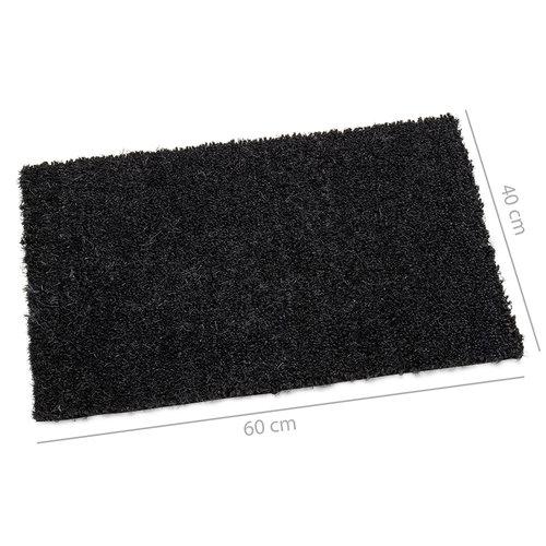 Doormat-coir mat black 40x60cm