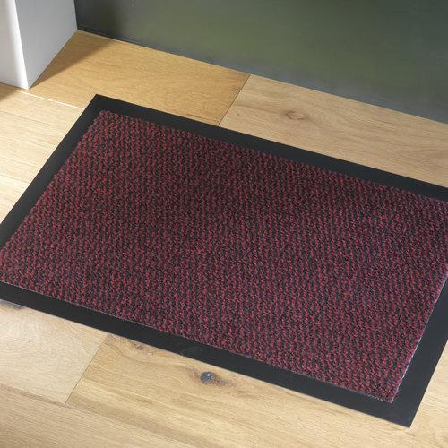 Reinigungsmatte Faro 60x80cm schwarz rot