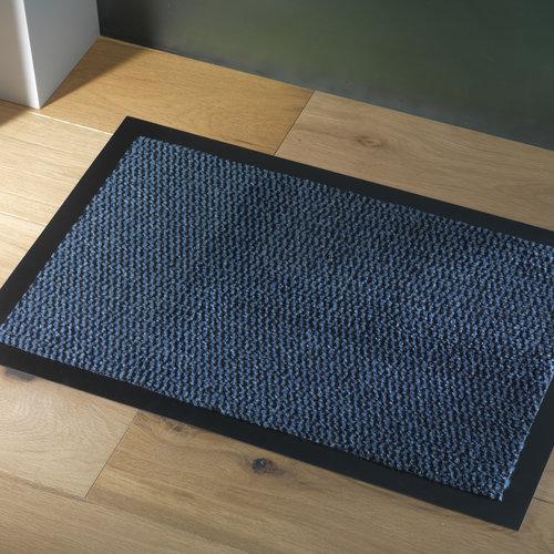 Deurmat-schoonloopmat Faro 60x80cm zwart blauw