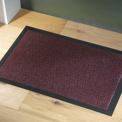 Reinigungsmatte Faro 40X60cm schwarz rot