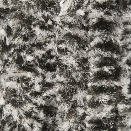 Vliegengordijn-kattenstaart-caravan- 56x180 cm zwart wit mix