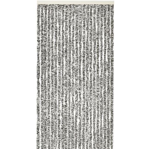 Fliegenvorhang-Katzenschwanz-Caravan - 56x180 cm Schwarz-Weiß-Mischung