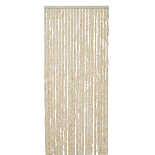 Fly curtain-cat tail-caravan- 56x180 cm beige white mix