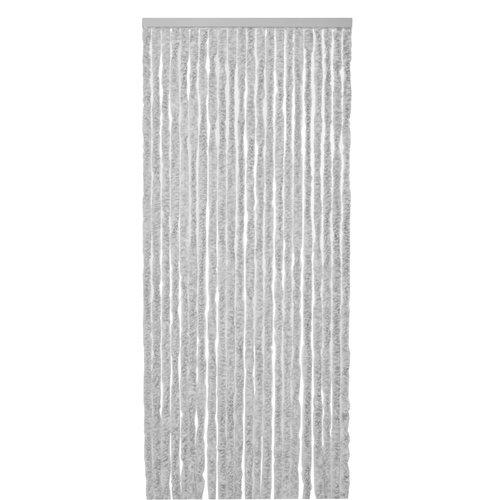 Vliegengordijn-kattenstaart-caravan- 56x180 cm grijs wit mix