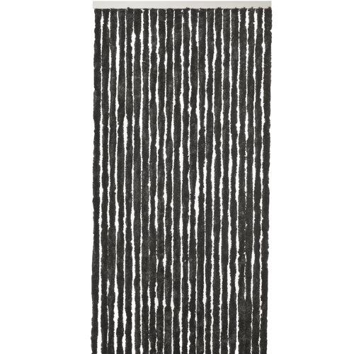 Flauschvorhang 100x240 cm schwarz uni in doos