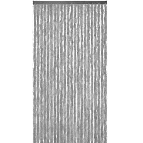 Flauschvorhang 90x220 cm grau uni in doos