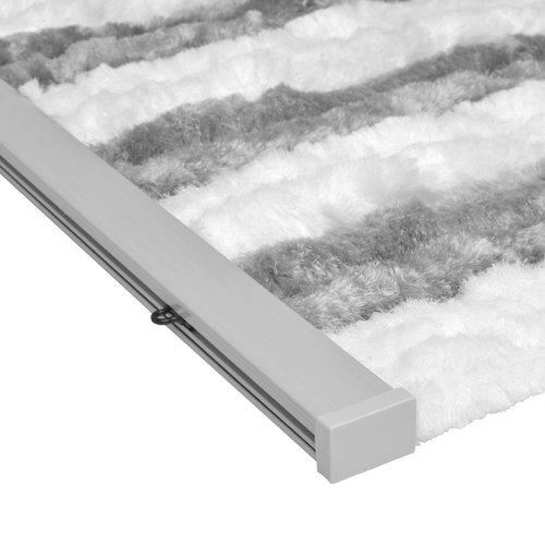 Fliegenvorhang-Katzenschwanz - 90x220cm grau-weißes Duo in Box