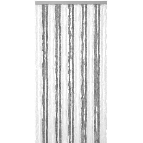 Vliegengordijn-kattenstaart- 90x220cm grijs-wit duo in doos