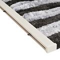 Vliegengordijn-kattenstaart- 90x220 cm zwart/grijs duo in doos