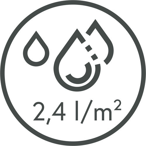 Dry-running mat Memphis Black 80X120cm