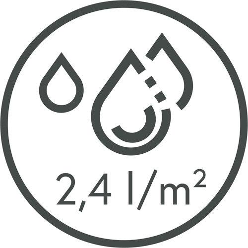 Deurmat-Droogloopmat Memphis D. grijs 40x60cm