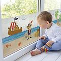 Fensterfolie statisch gegen Betrachtung Piraten 46 cm x 1,5 Meter
