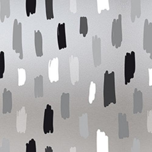 Fensterfolie statisch gegen Betrachtung Rayones grau 46 cm x 1,5 m