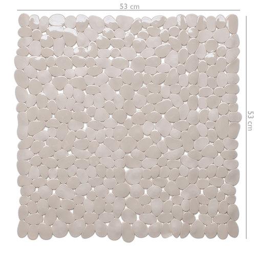 Wicotex Non-slip shower mat taupe 53x53cm
