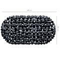 Wicotex Non-slip black bath mat 68x35cm