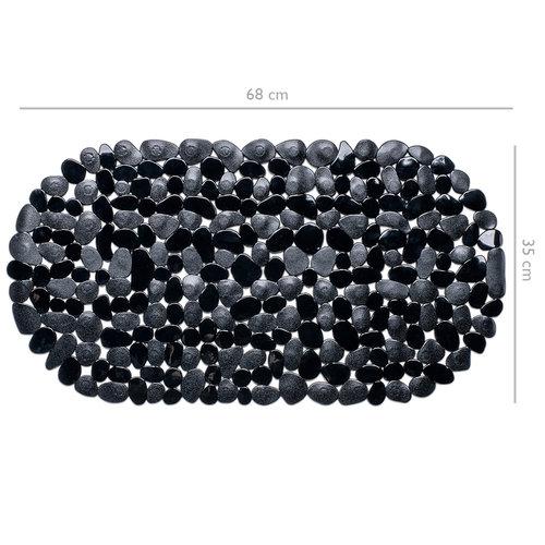 Wicotex Badmat antislip- zwart 68x35cm
