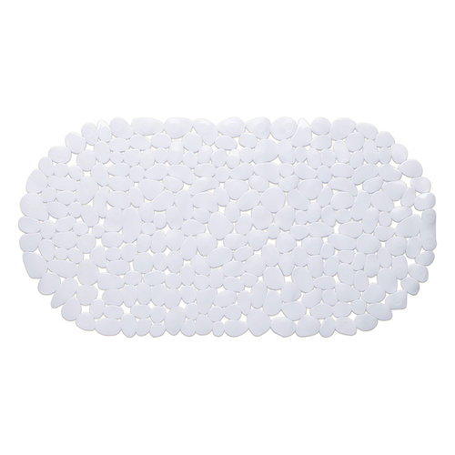 Wicotex Non-slip white bath mat 68x35cm