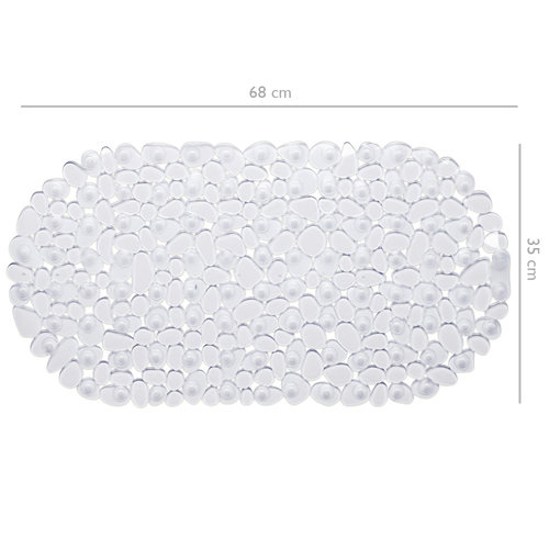 Wicotex Non-slip transparent bath mat 68x35cm