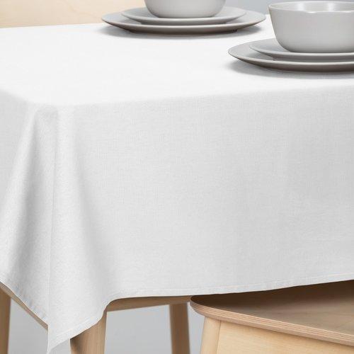 Tafellaken-Tafelkleed- Dordogne rond 160cm poly/katoen wit