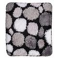 Bath mat black-gray-white stones 60x90cm