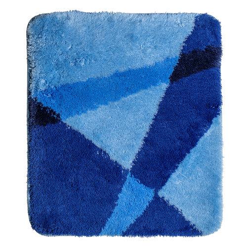 Badematte blau gestreift 60x90cm