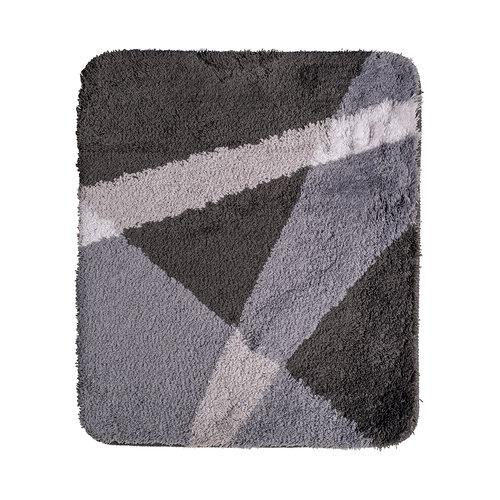 Badematte grau gestreift 60x90cm